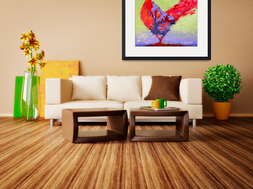 """""""Rooster VI&quot  (2009) by LeslieSaetaFineArt"""