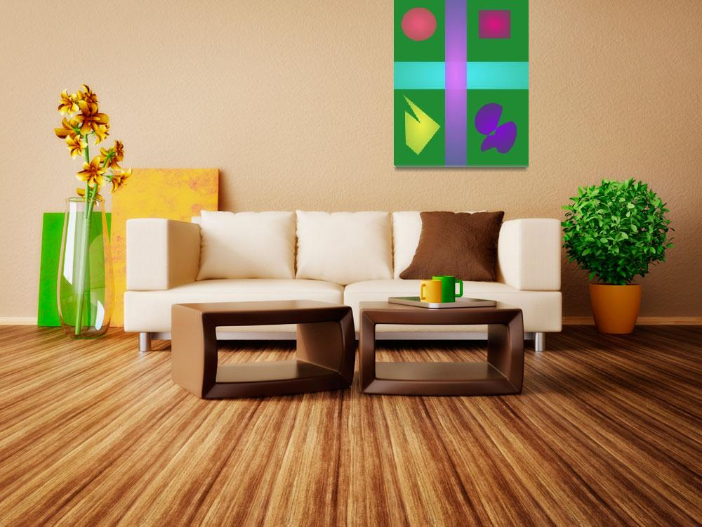 """""""Four Objects Green Background""""  by masabo"""