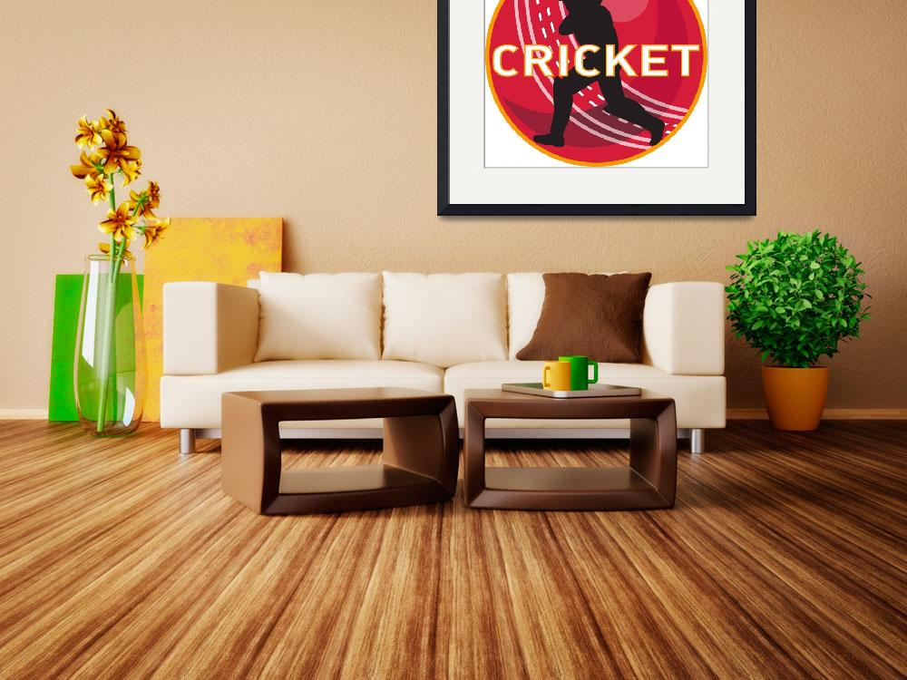"""cricket player batsman sports ball"" (2013) by patrimonio"