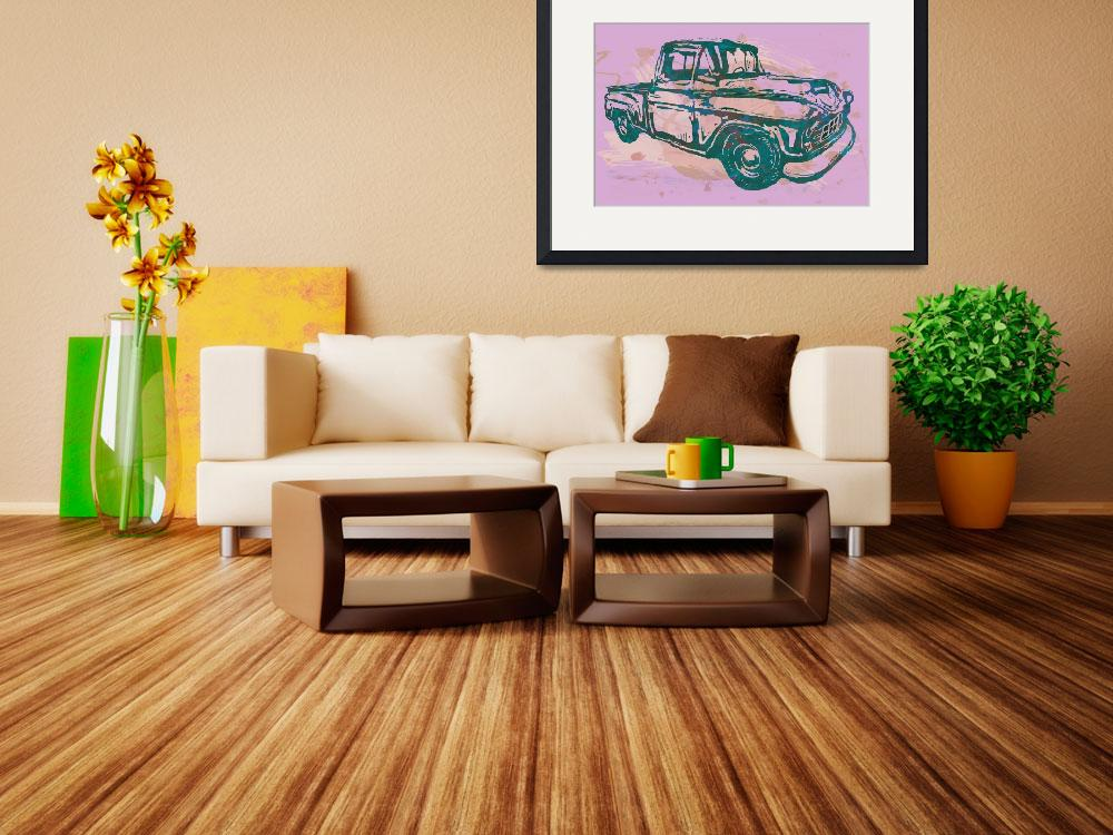 """Classical Car Stylized Pop Art Poster""  (2014) by visualharbour"