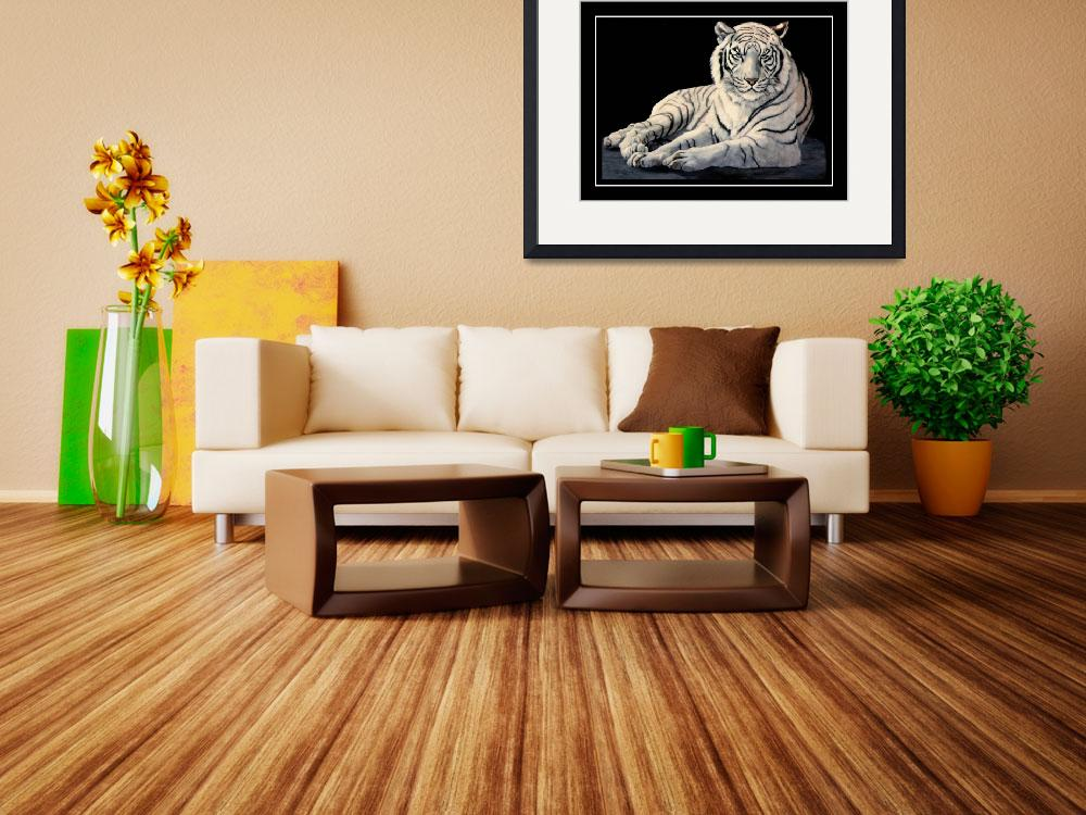 """""""The White Tiger    painting""""  by AnimalsbyDiDi"""