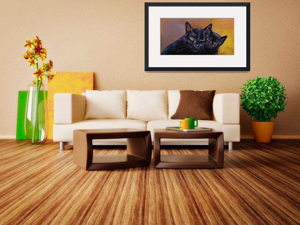 """""""Bombay Cat with Kitten&quot  by creese"""