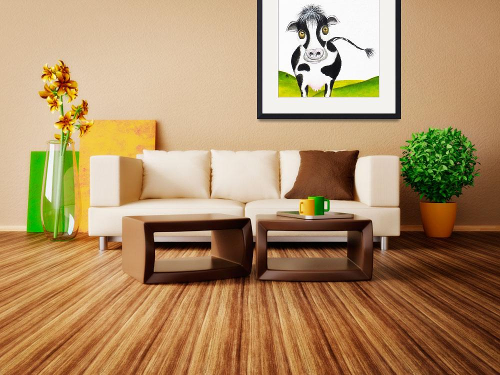 """""""Whimsical Cow&quot  (2013) by oystudio"""