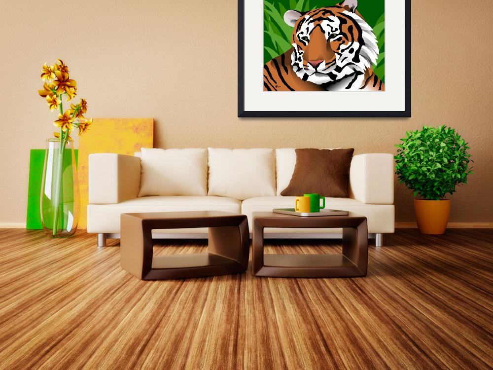 """""""Tiger""""  (2014) by waterart"""