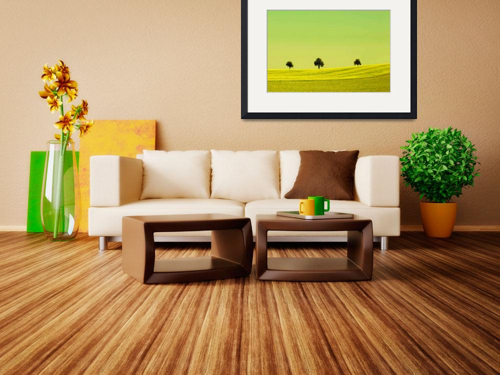 """""""Yellow landscape&quot  (2013) by Spangles44"""
