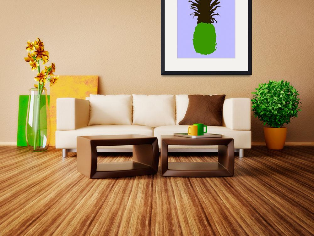 """""""Pineapple green brown blue (c)&quot  (2014) by edmarion"""
