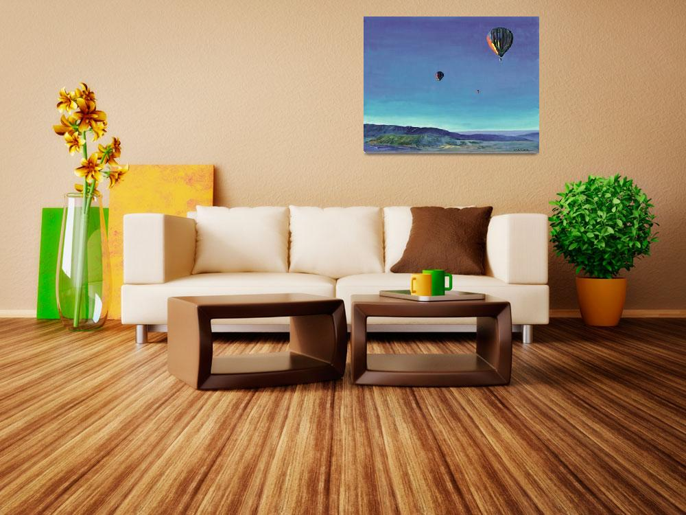 """""""Three Balloons over San Diego County&quot  (2010) by RDRiccoboni"""
