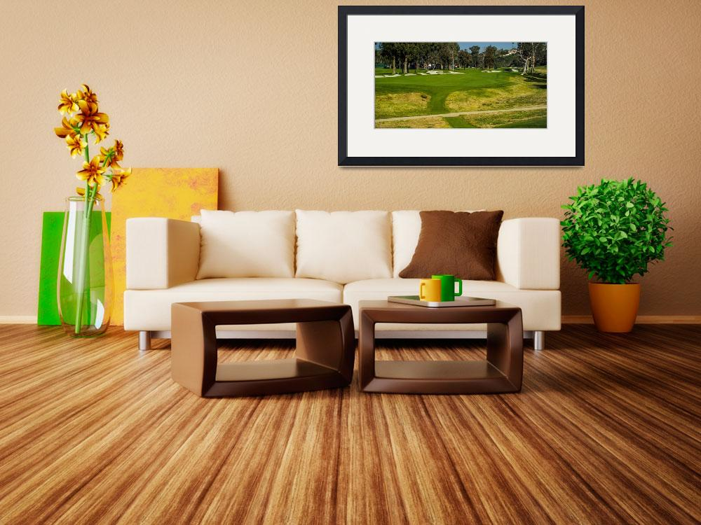 """Riviera Country Club Golf Course Hole Photo Wide&quot  (2008) by Richimage"
