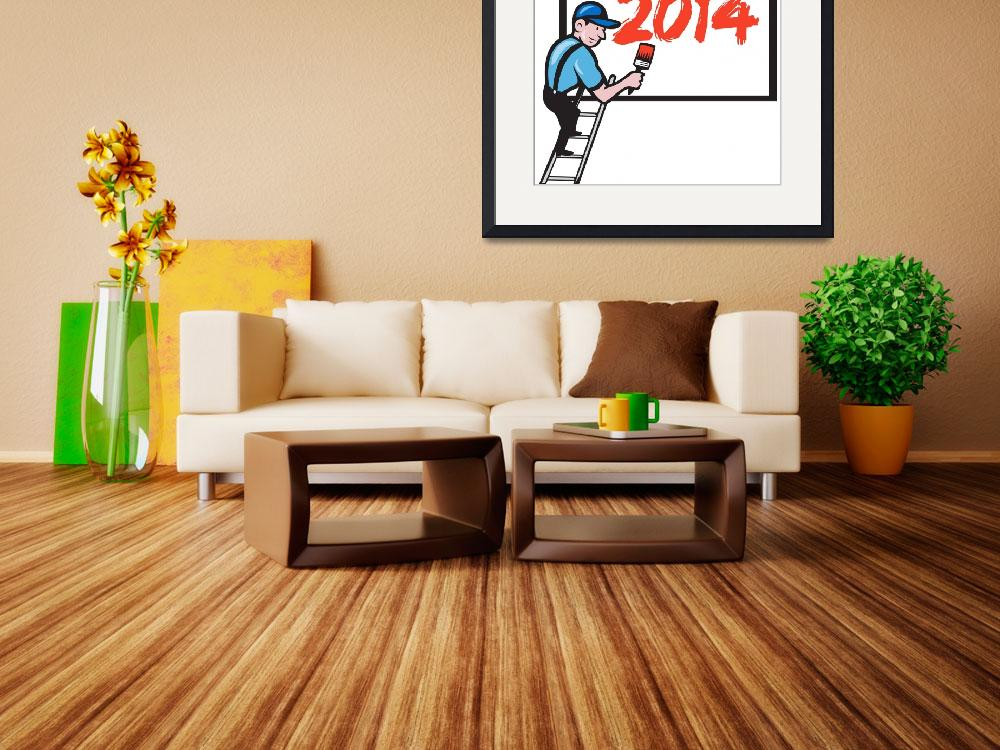 """""""New Year 2014 Painter Painting Billboard&quot  (2013) by patrimonio"""