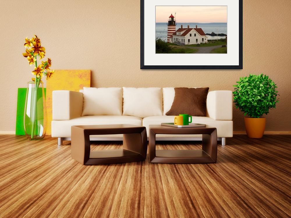 """""""West Quoddy Head Lighthouse&quot  by cary"""