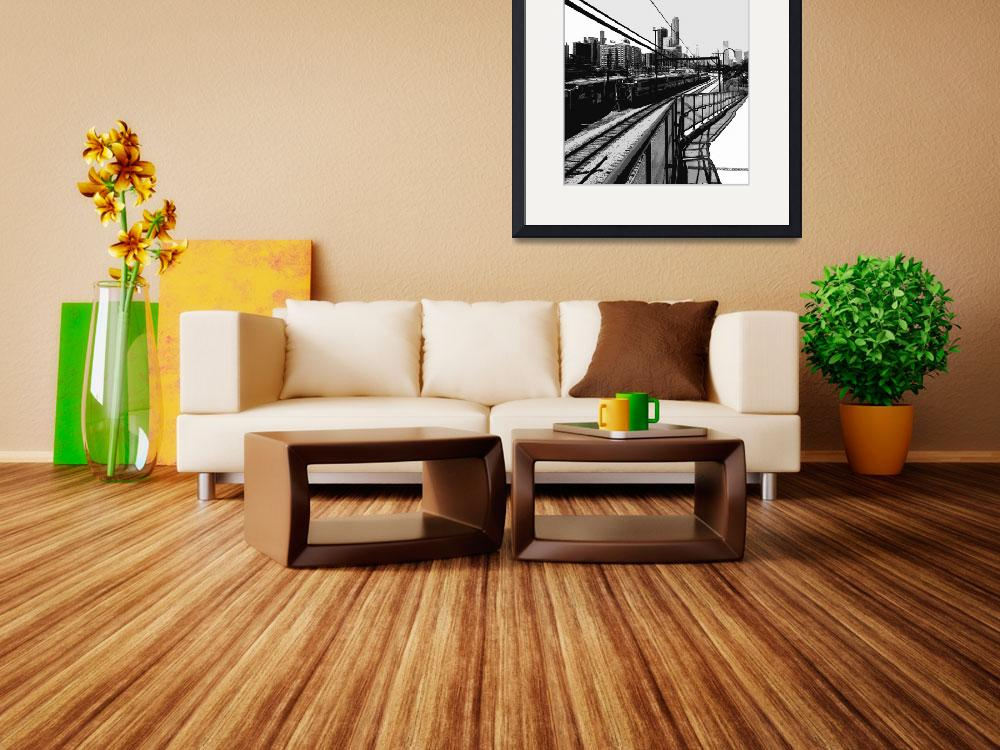 """""""Black and White Train, Chicago&quot  (2010) by DavidGal"""