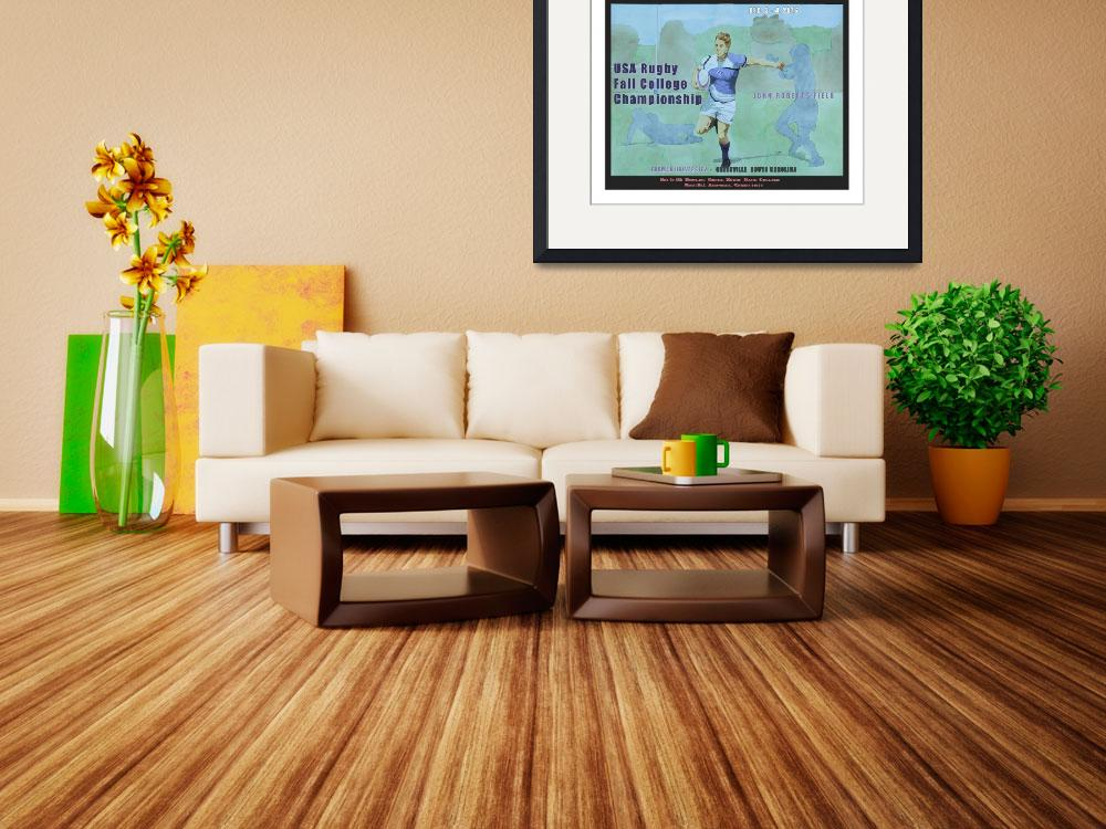 """""""College Rugby Poster Furman Print Ready""""  by FluidColor"""