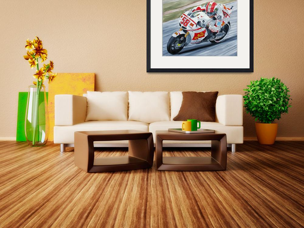 """Marco Simoncelli""  by iconicarts"