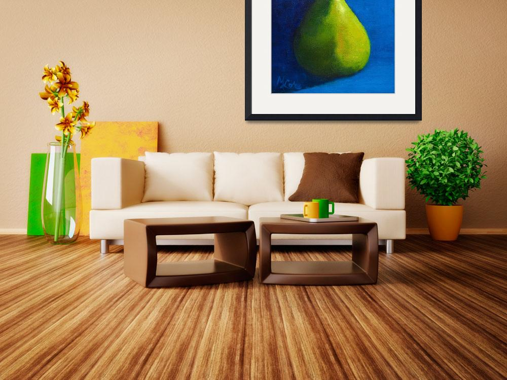 """""""Green Pear&quot  by MaryLorArt"""