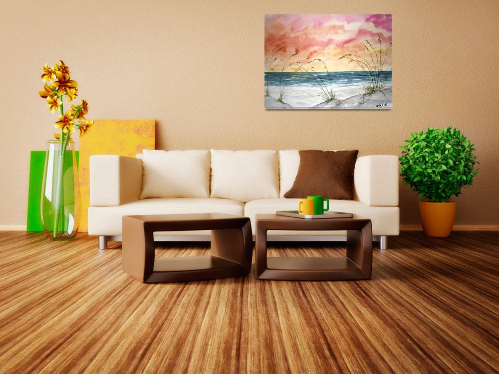 """""""abstract seascape painting&quot  (2009) by derekmccrea"""