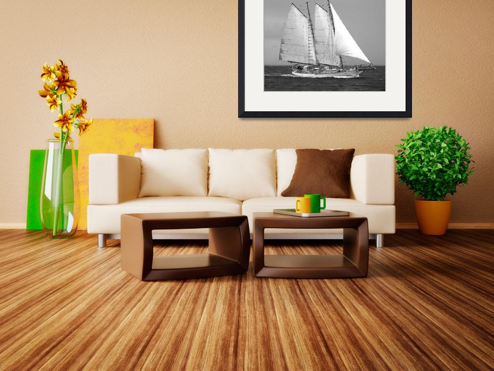 """Sailing Schooner Under Full Sail""  (2009) by MAGartworks"