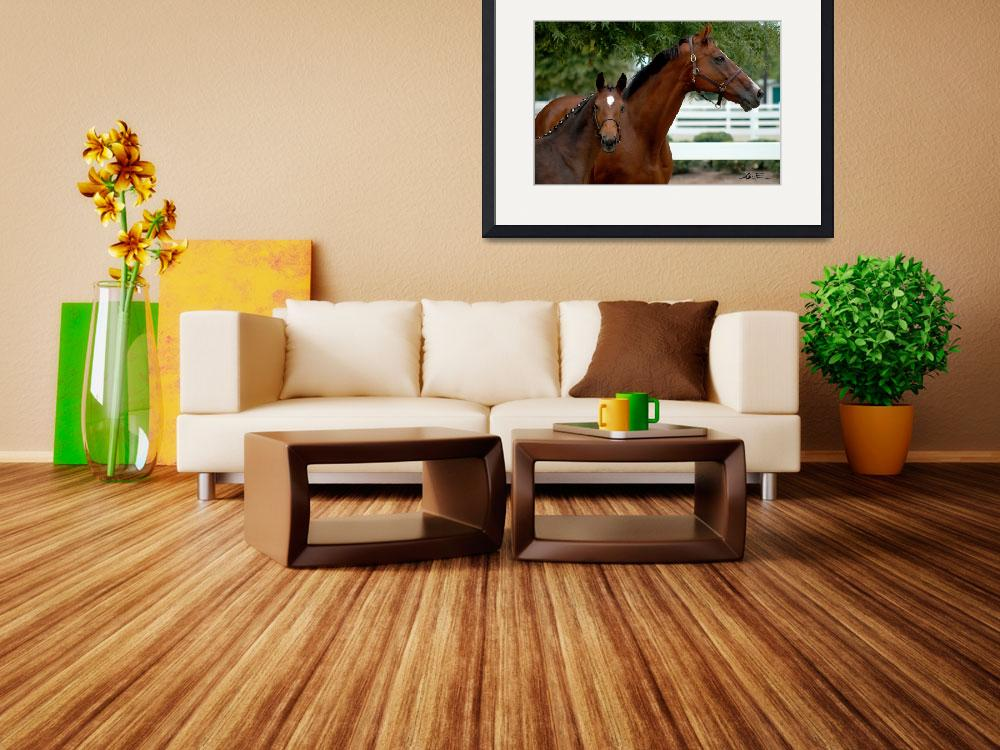 """""""Thoroughbred Mare and Foal""""  by AliciaFrese"""