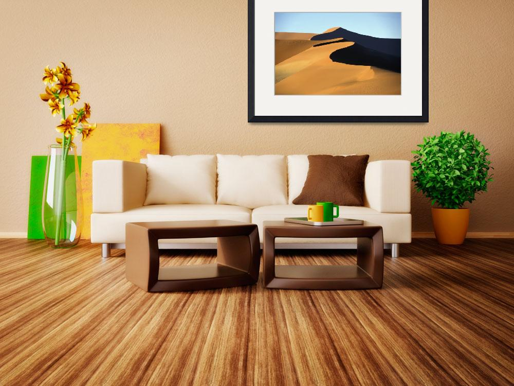 """Sand Dune Against Clear Sky In Namib-Naukluft Nati&quot  by DesignPics"