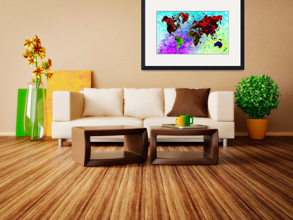 """""""Word World Map&quot  (2012) by D77TheDigArtisT"""