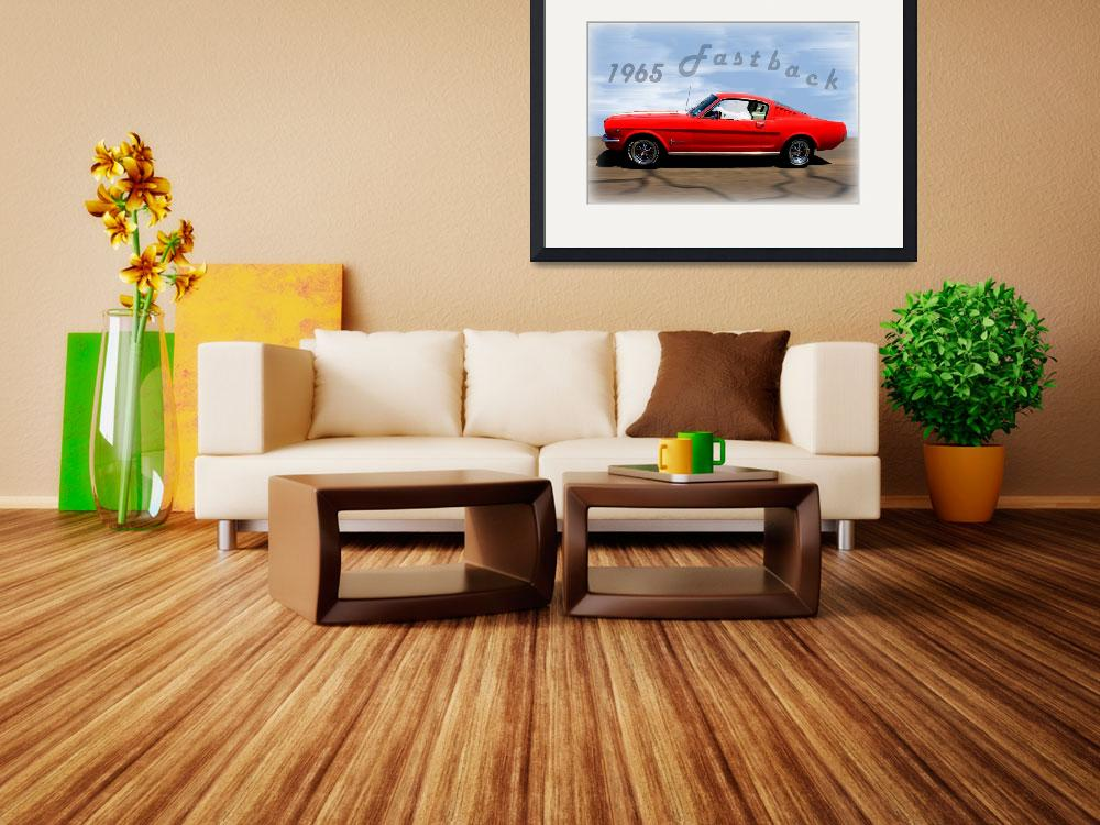 """""""1965 Ford Mustang Fastback&quot  (2014) by bettynorthcutt"""