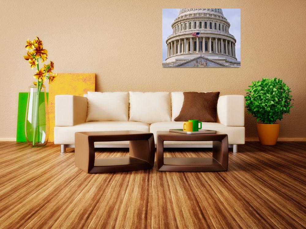 """""""US Capitol Dome with Flag&quot  (2009) by paulbohman"""
