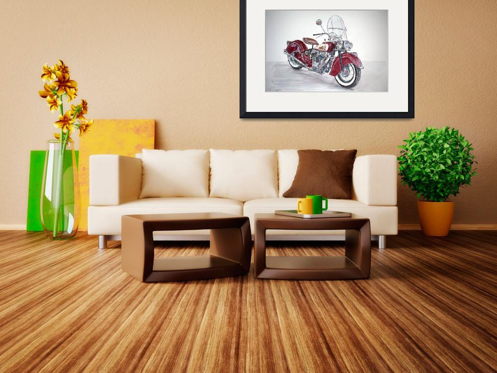 """""""Indian Motorcycle""""  by fineartmasters"""