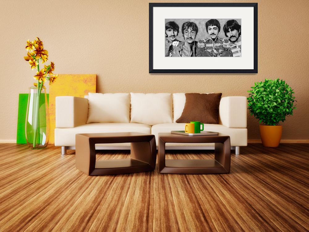 """""""Sgt. Peppers Black and White&quot  (2008) by lotuspetals"""