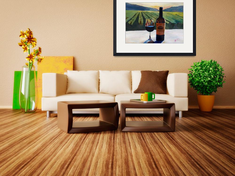 """Napa Valley Wine Bottle with Red Wine&quot  (2014) by arthop77"