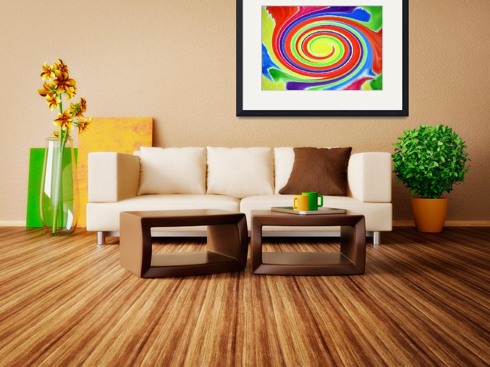 """Abstract Swirl Watercolor A1 1215""  (2015) by MasArtStudio"