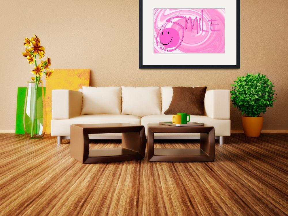 """""""smile pink swirl&quot  by lizmix"""