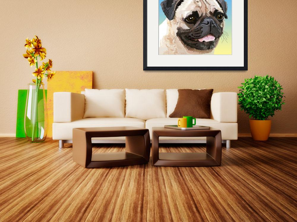"""Our Friend the Pug&quot  (2007) by diane"