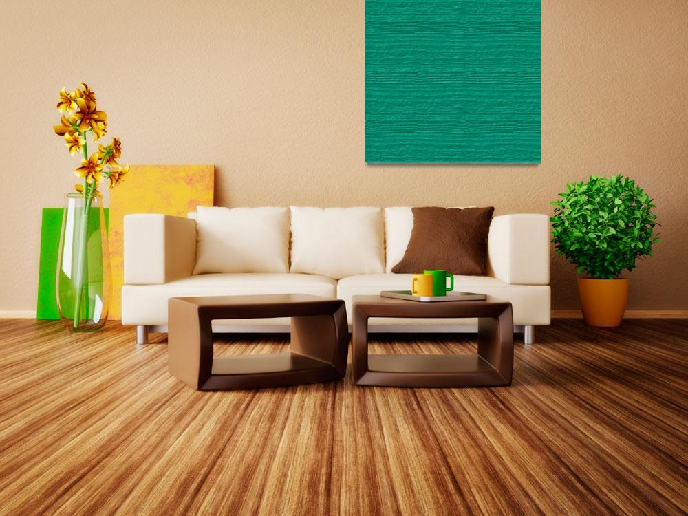 """""""Peacock Green Wood Grain Color Accent""""  (2014) by SaraValor"""