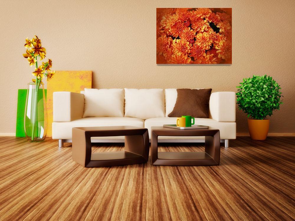 """Chrysanthemums - Fire Orange""  (2013) by MotherNature1"