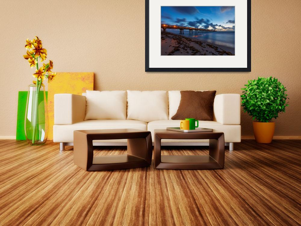 """Deerfield Pier at Dawn&quot  (2017) by cdomenig"