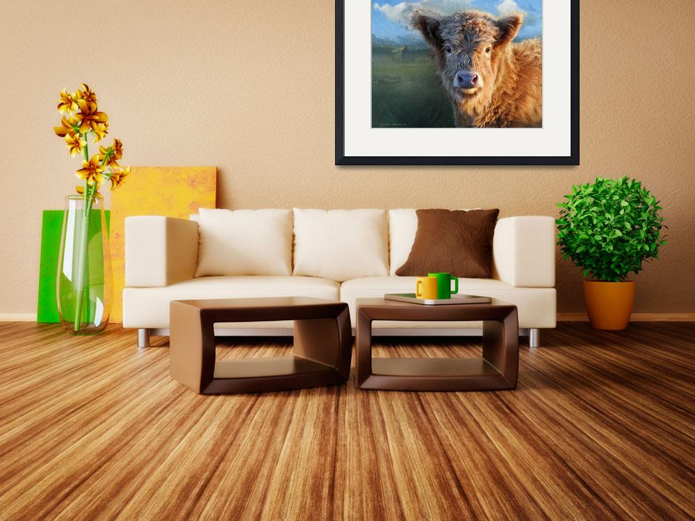"""""""young highland cow&quot  (2014) by rchristophervest"""