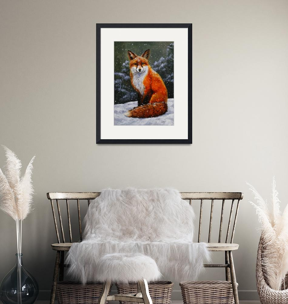 """""""Red Fox in Winter""""  (2012) by csforest"""