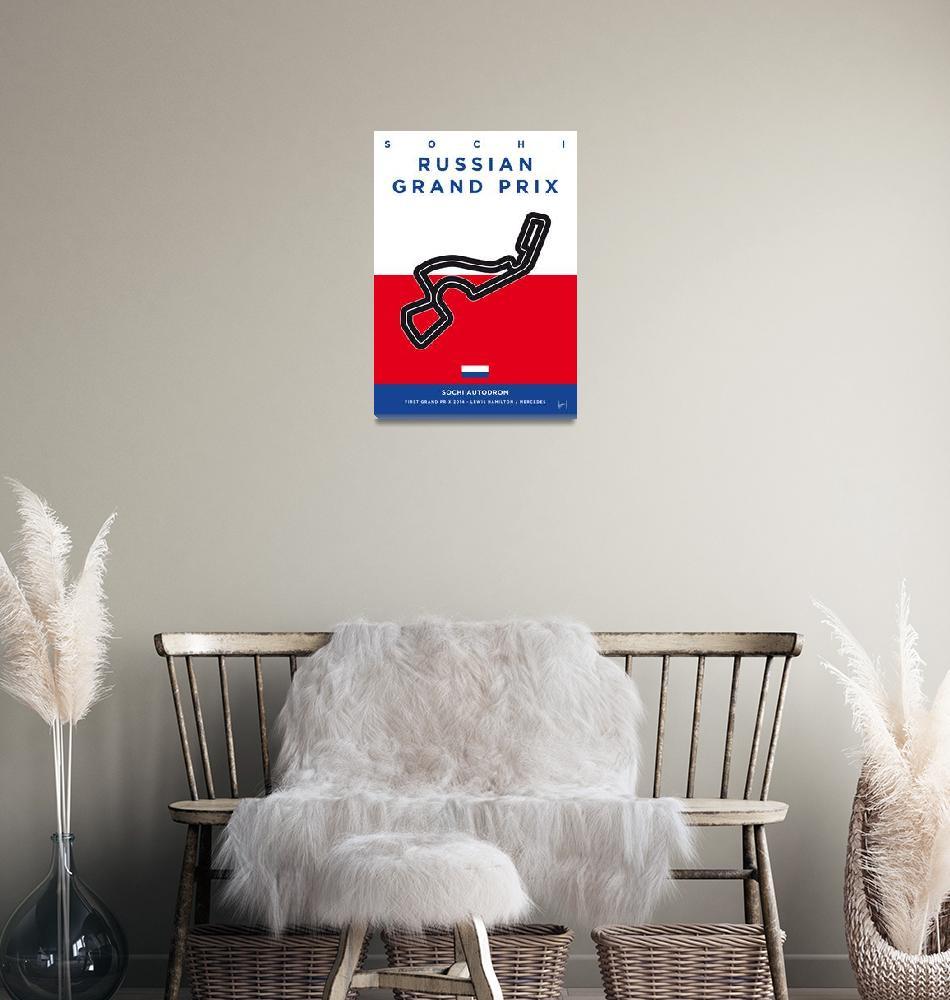 """My F1 SOCHI Race Track Minimal Poster""  by Chungkong"