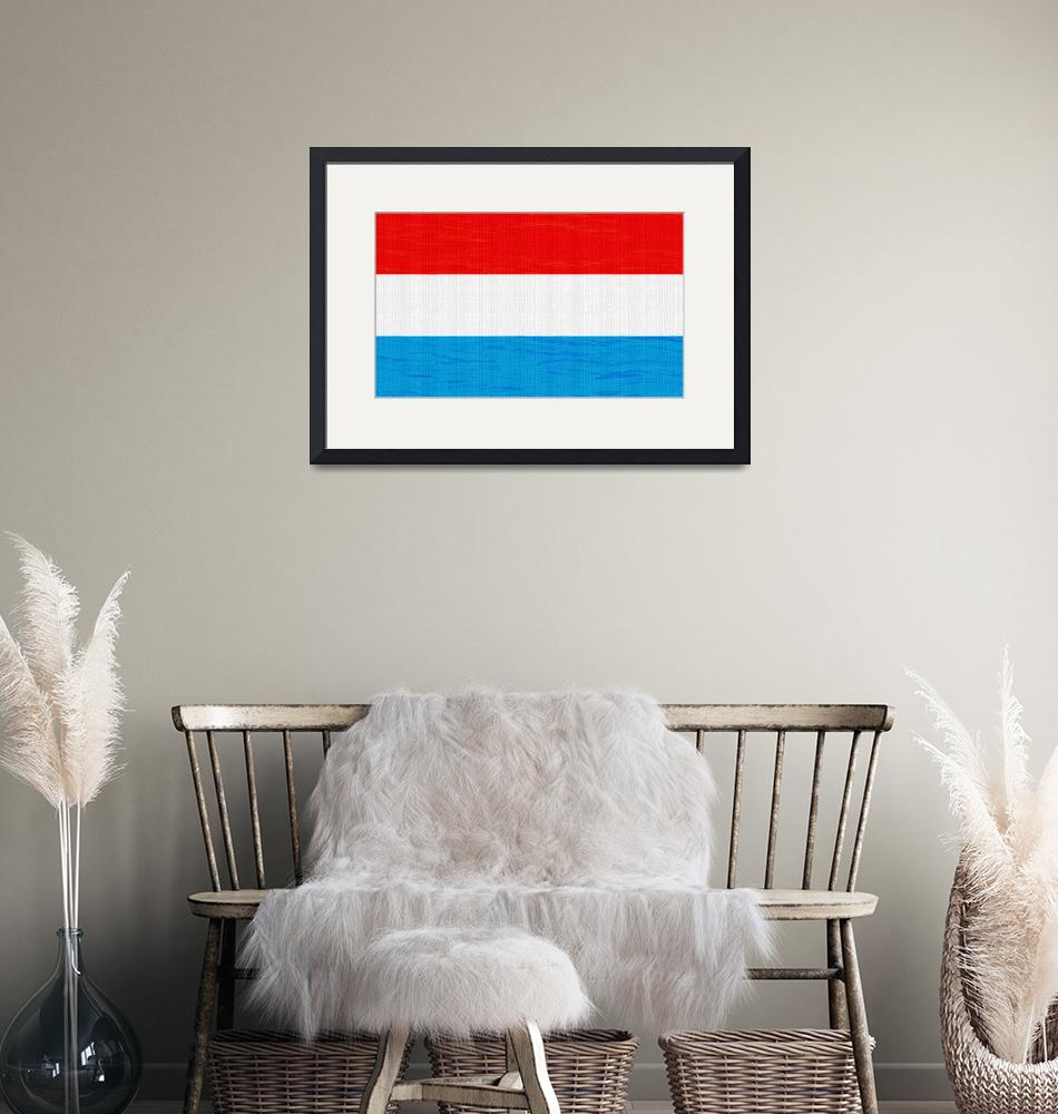 """""""Flag of Luxembourg ,  County Flag Painting ca 2020""""  by motionage"""