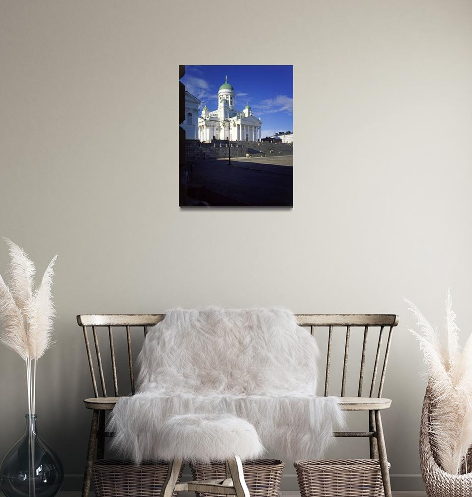 """""""Helsinki Cathedral, Finland from the University""""  (1999) by PriscillaTurner"""