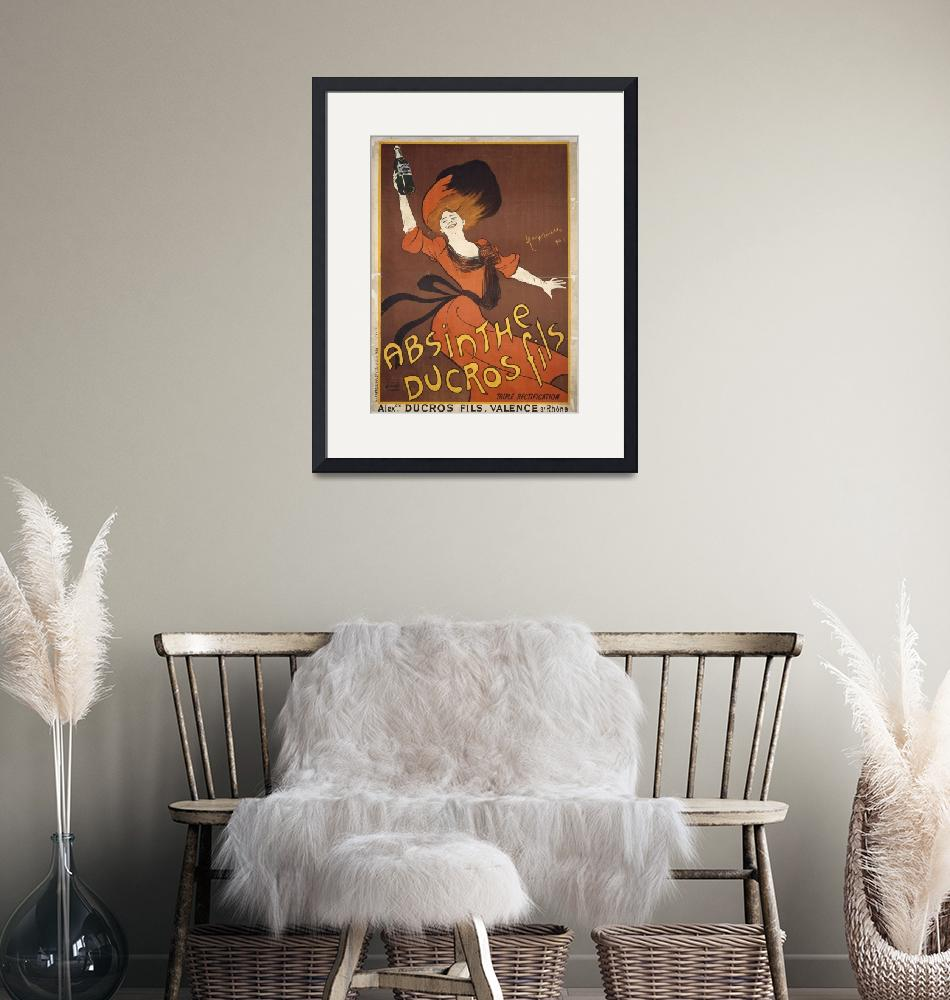 """Absinthe Ducros Fils by Cappiello Vintage Poster""  by FineArtClassics"