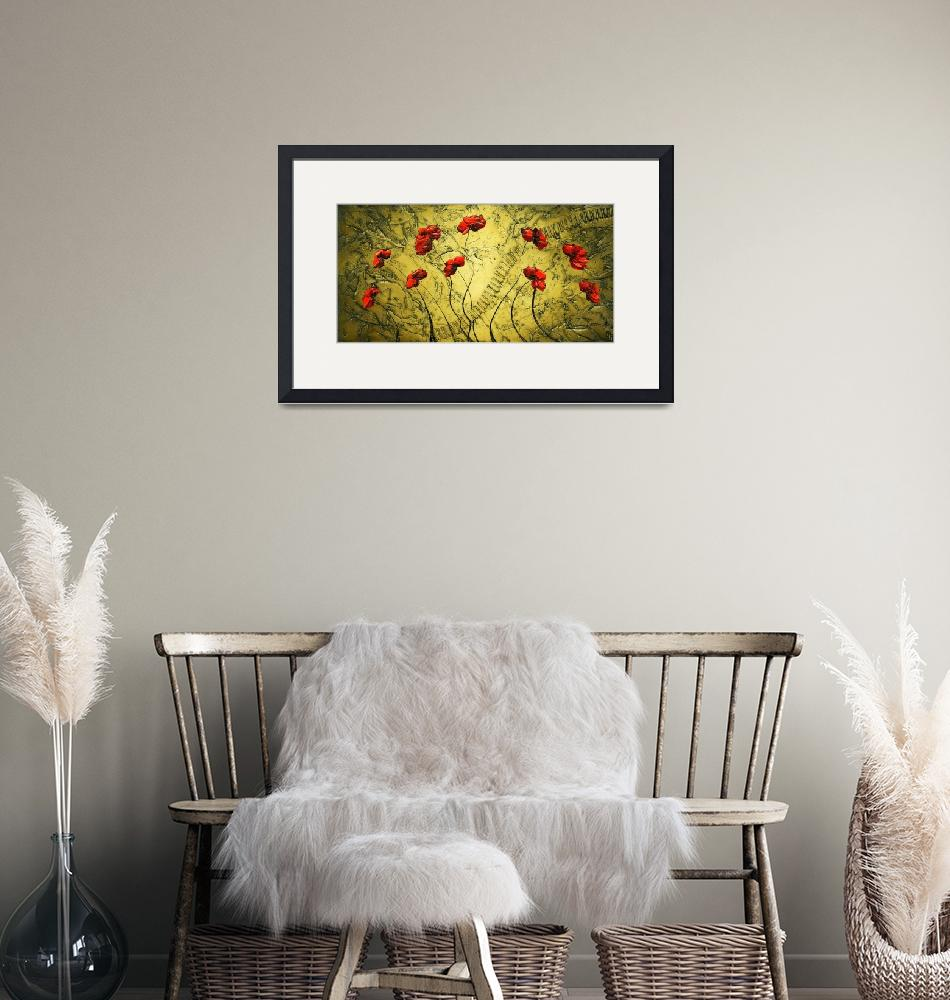 """""""Red Poppies"""" (2009) by modernhouseart"""