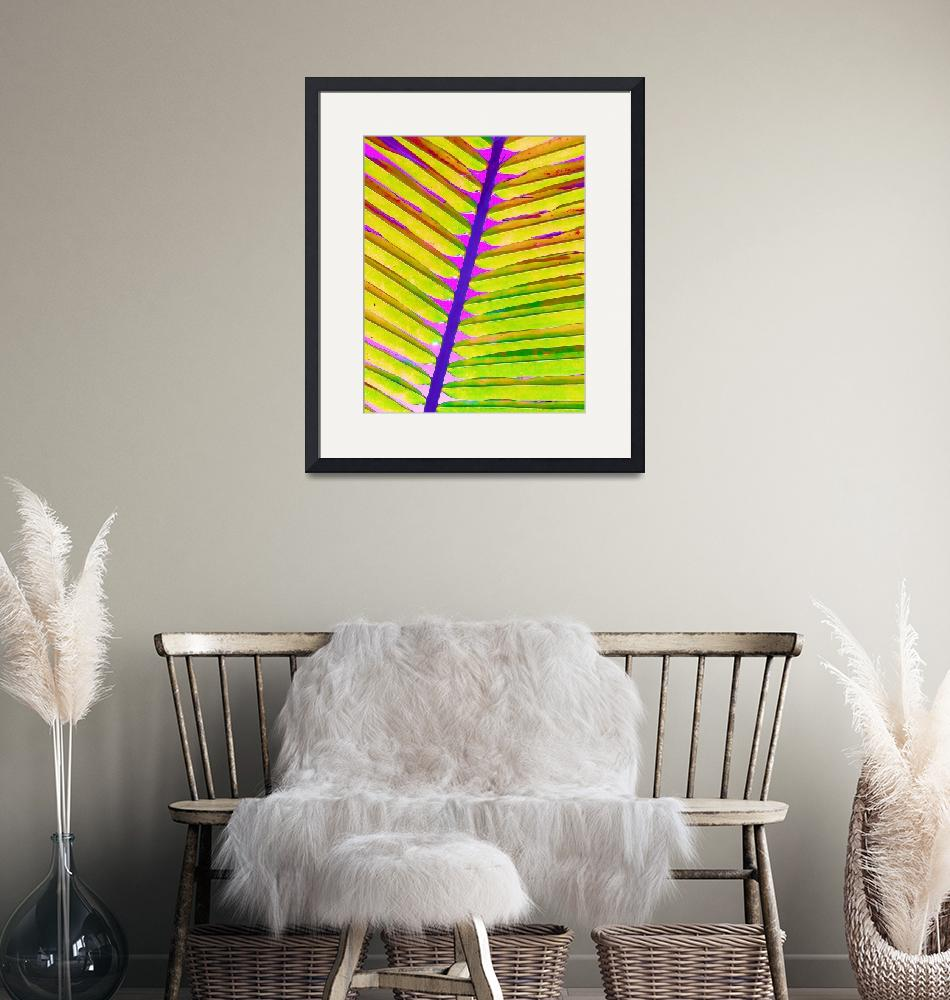 """""""Painted Palm Leaf""""  (2020) by ChrisAndruskiewicz"""