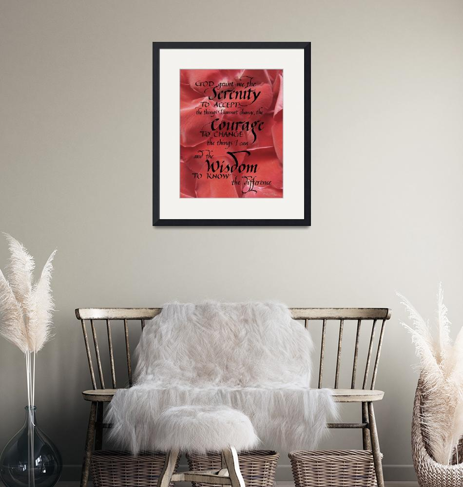 """Serenity Prayer - Contemporary""  (2012) by BeautifulCalligraphy"