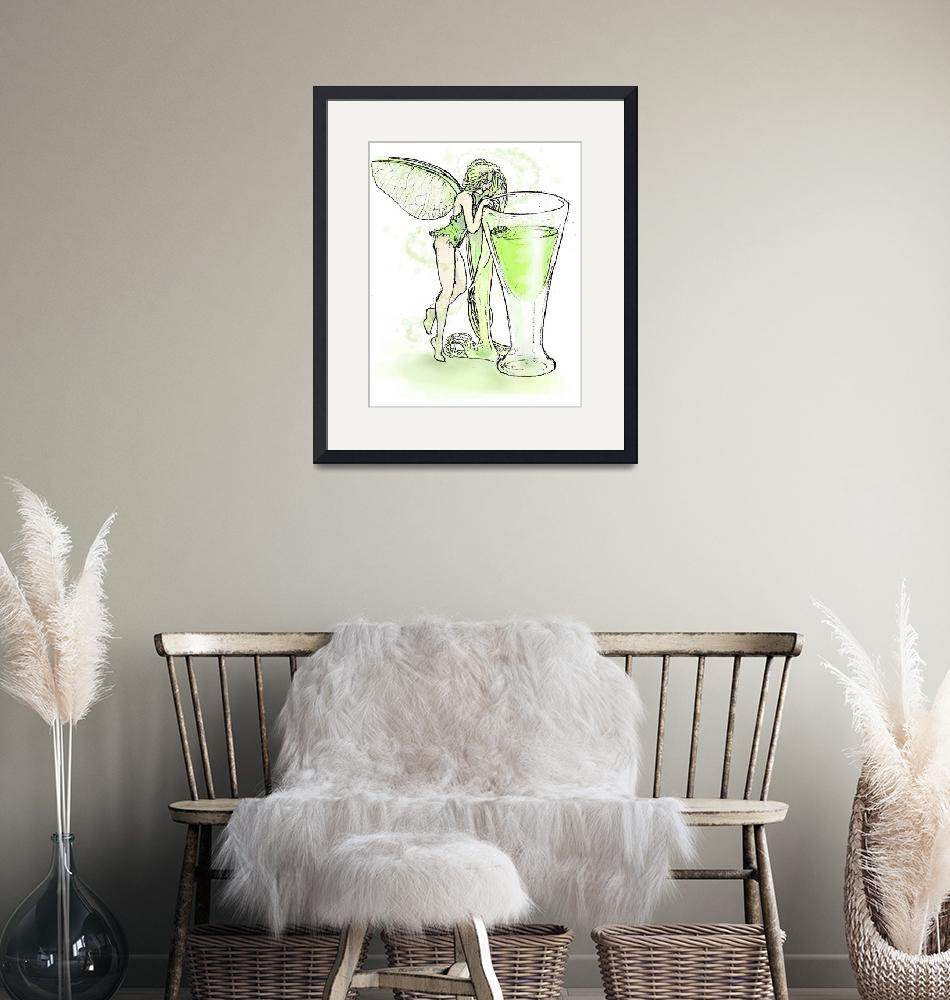 """""""Absinthe Fairy with Glass""""  by opheliasart"""