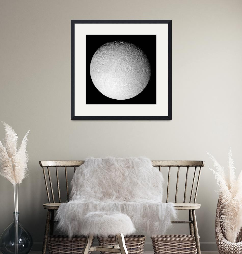 """""""The South Pole of Saturns moon Tethys""""  by stocktrekimages"""