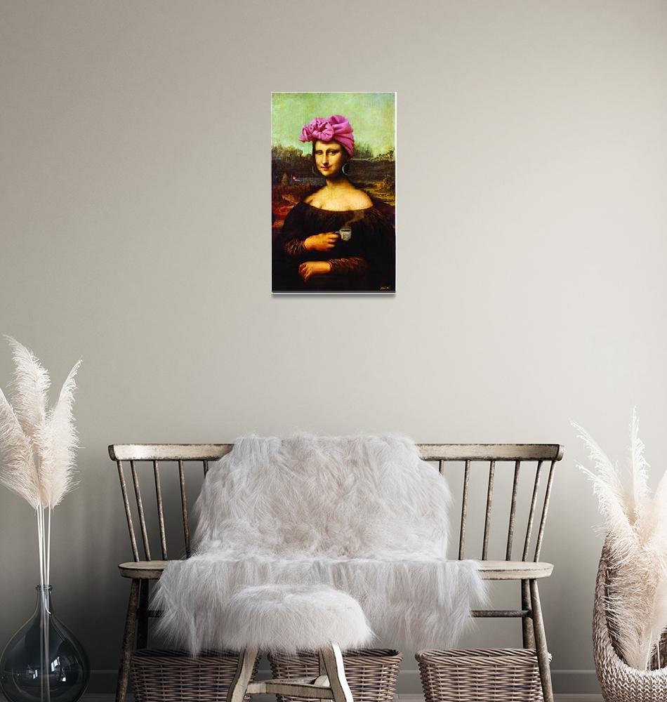 """Mona Lisa Cubana""  (2005) by AlvaroDiazRubio"