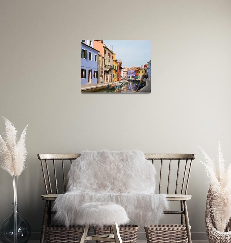 """""""Homes in Burano""""  (2007) by CLKAImages"""
