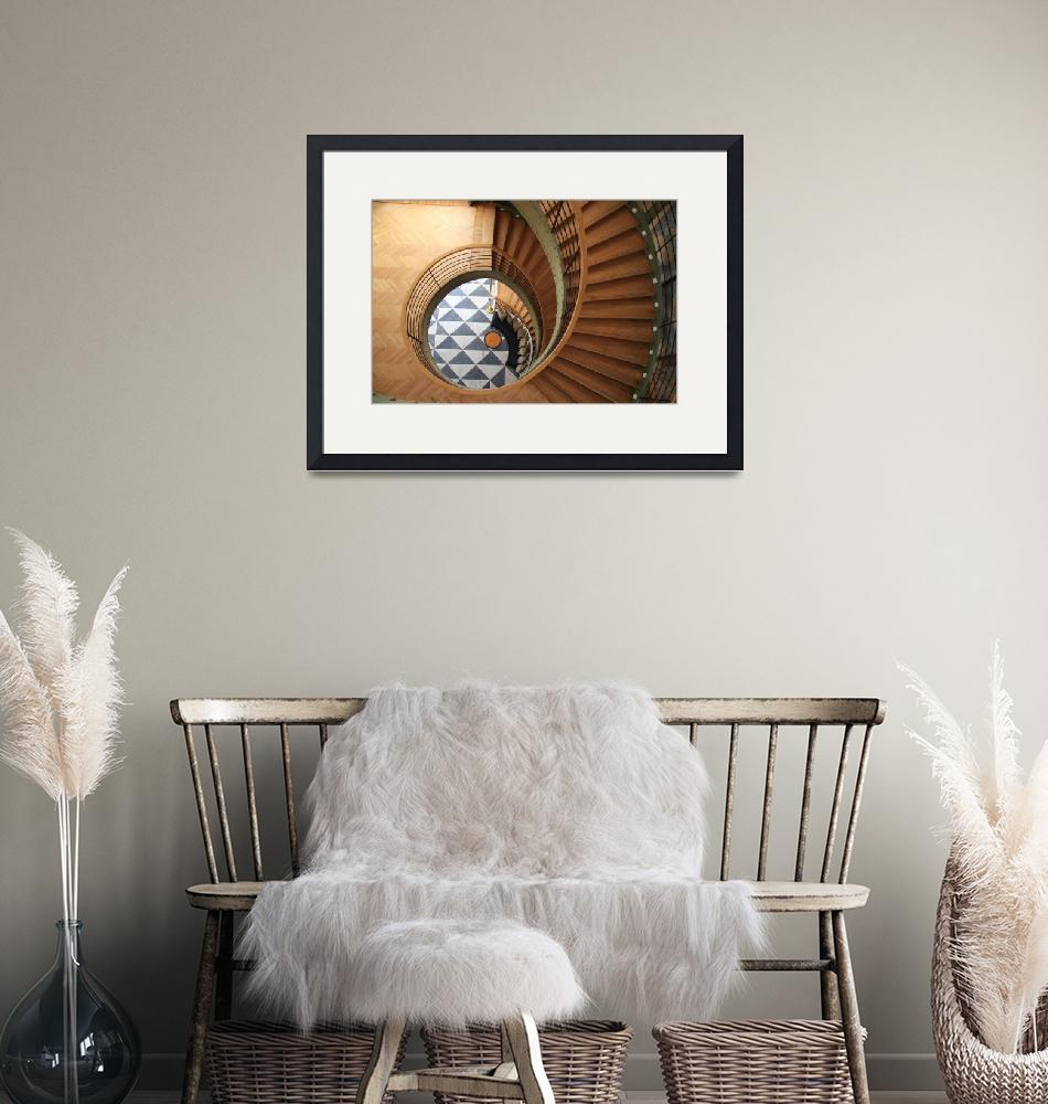 """""""Art Deco Circular Staircase""""  (2009) by ronazevin"""