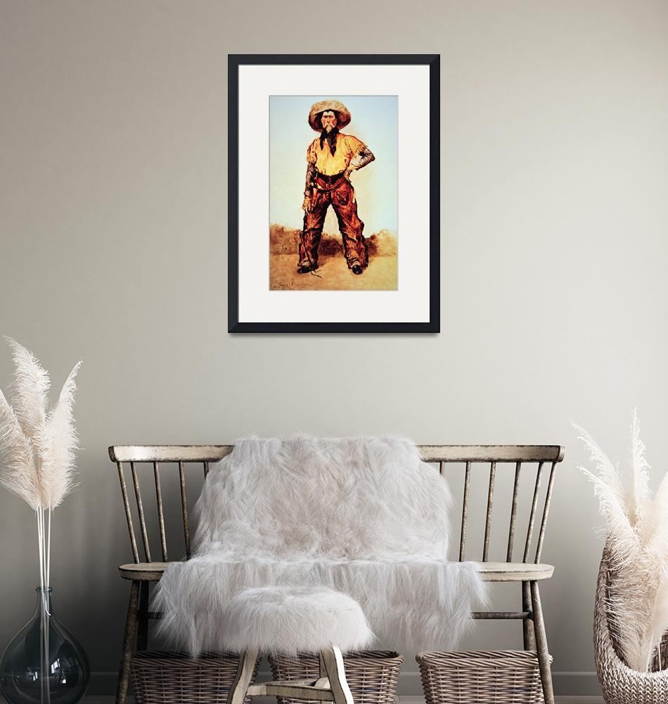 """Texas Cowboy by Frederic Remington""  by fineartmasters"
