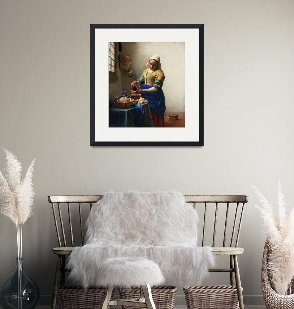 """The Milkmaid by Johannes Vermeer""  by FineArtClassics"
